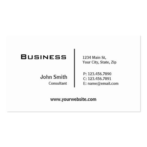 Professional Plain Elegant Modern Computer Repair Business Cards