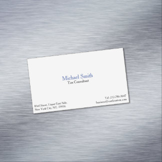 Professional Plain Elegant Modern Magnetic Card Magnetic Business Cards
