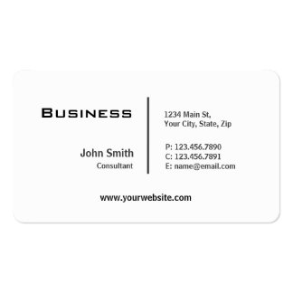 Professional Plain Elegant Modern Rounded Corners Pack Of Standard Business Cards