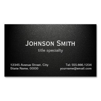 Professional Plain Matte Black - Simple Stylish Magnetic Business Card