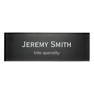 Professional Plain Matte Black Simple Stylish Name Tag