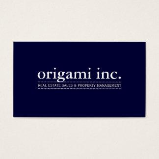 PROFESSIONAL plain modern simple smart navy blue Business Card