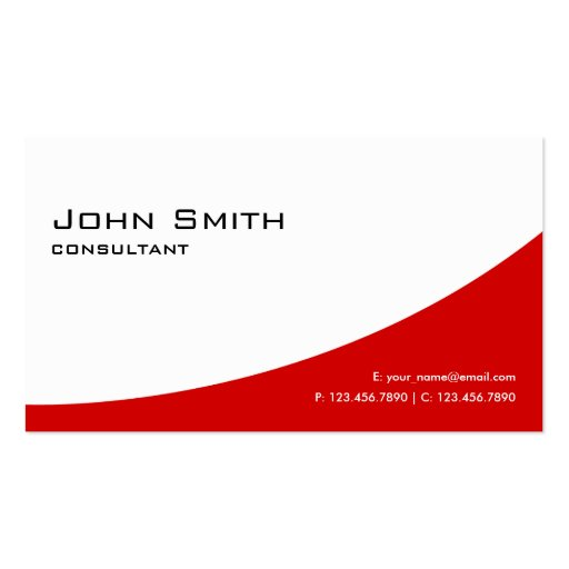 Professional Plain Red Elegant Modern Real Estate Business Card Template