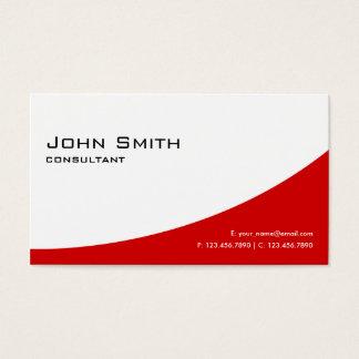 Professional Plain Red Elegant Modern Real Estate Business Card