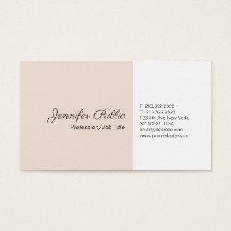 Professional Plain Simple Elegant Colors Modern Business Card