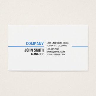 Professional Plain Simple Elegant White Computer Business Card