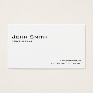 Professional Plain White Elegant Modern Simple Business Card