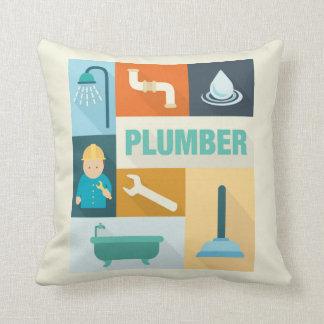 Professional Plumber Iconic Designed Cushion