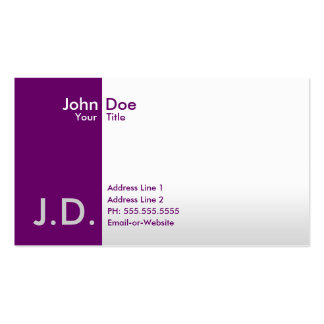 professional purples pack of standard business cards