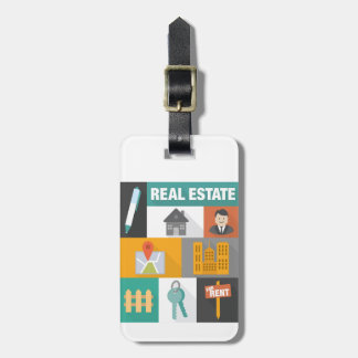 Professional Real Estate Agent Luggage Tag