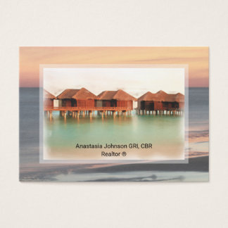 Professional Realtor Vacation Home Add Photo Business Card