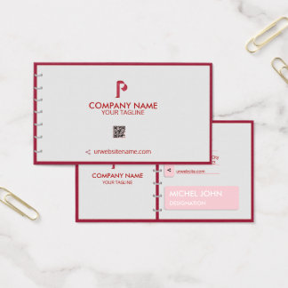 PROFESSIONAL RED -CORPORATE WITH A LOGO AND DIARY BUSINESS CARD