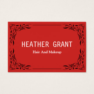 Professional red Floral Business Cards