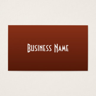 Professional Rich Rust Business Card