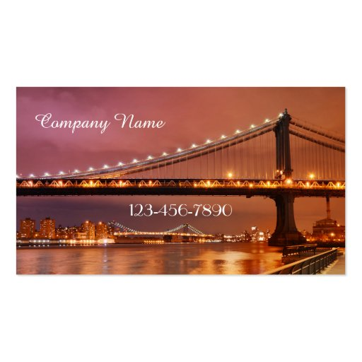 Professional Romantic City Travel Business Card