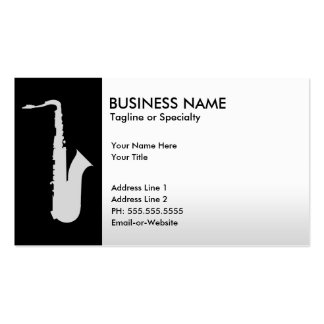 professional saxophone pack of standard business cards