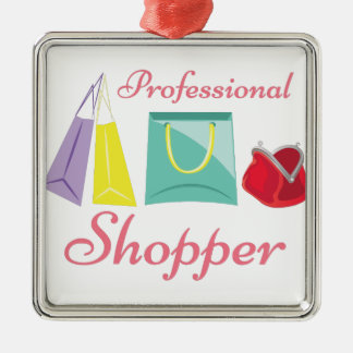Professional Shopper Metal Ornament