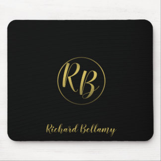 Professional Simple Black Gold - Mousepad