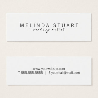Professional Simple Modern Black and White Mini Business Card