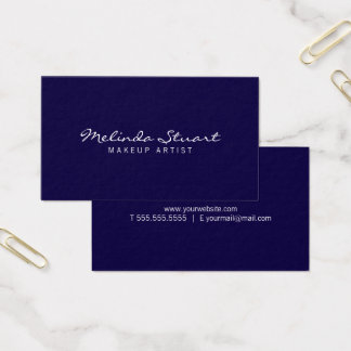 Professional Simple Modern Navy Blue Business Card