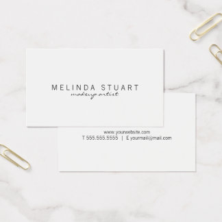 Professional Simple Modern White Business Card