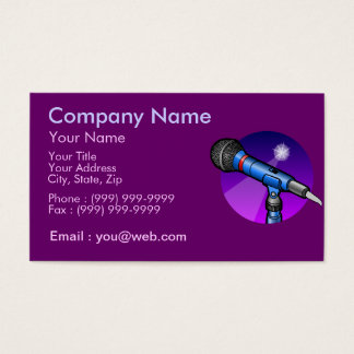 Professional Singer Business Card