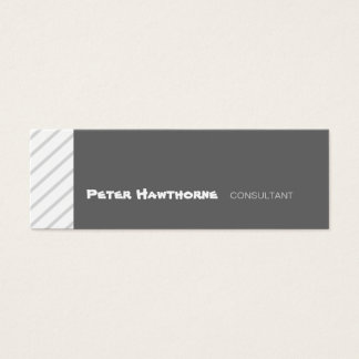 Professional Slanted Minimal Geometric Stripes Mini Business Card