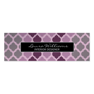 Professional Smart Geometric Mauve Pack Of Skinny Business Cards