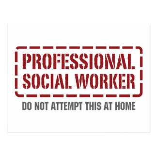 Professional Social Worker Postcards