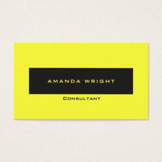 Professional Soft Pastel Yellow Modern Minimalist Business Card