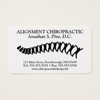 Professional Standard Chiropractic Business Cards