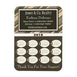 Professional Stripes Business 2018 Calendar Magnet