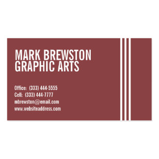 Professional Stripes Business Cards in Light Red