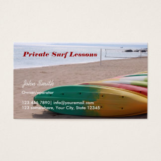 Professional Surfing Business Cards