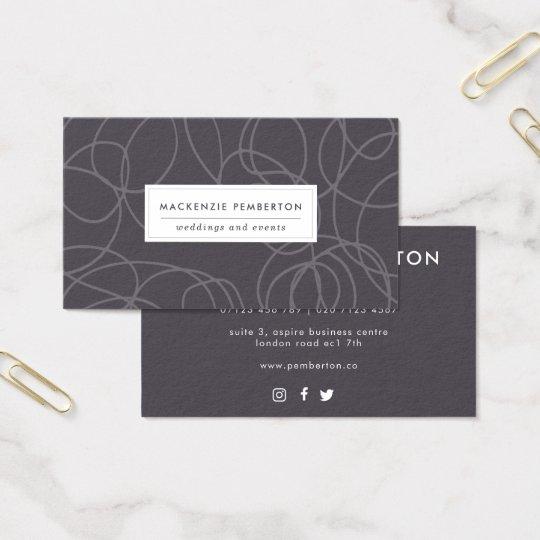 Professional Swirls Social Media Business Card