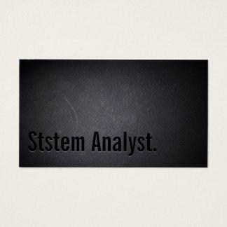 Professional System Analyst Minimalist Dark Business Card