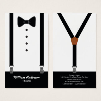 PROFESSIONAL TAILOR BUSINESS CARDS   TUXEDO