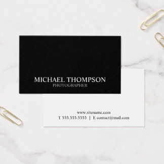 Professional Two Tone Black and White Business Card