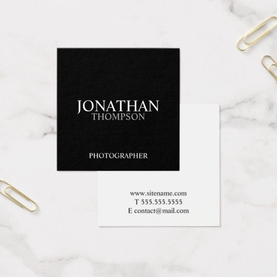 Professional Two Tone Black and White Square Business Card