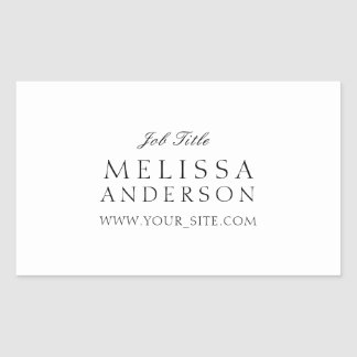 Professional Typography Rectangular Sticker