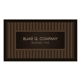 Professional Vertical Brown Stripes Business Card