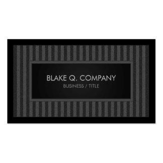 Professional Vertical Gray Stripe Business Card