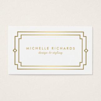 Professional Vintage Art Deco Elegant Gold, White