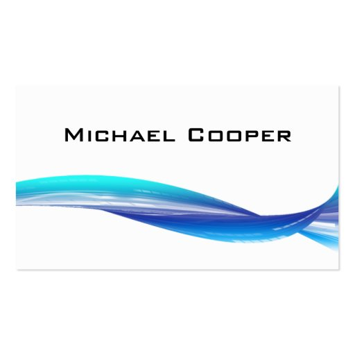 Professional Wave Business Card Blue White