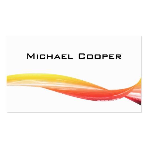 Professional Wave Business Card Orange Yellow W