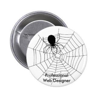 Professional Web Designer! - Button 2 Inch Round Button