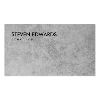 Professional white modern gray concrete minimalist pack of standard business cards