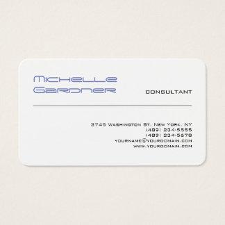 Professional White Trendy Plain Creative Modern Business Card