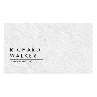 Professional Wooden Minimal Plain White Elegant Pack Of Standard Business Cards