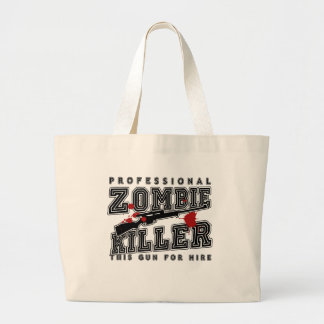 Professional Zombie Killer Jumbo Tote Bag